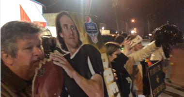 WATCH: Who Dats welcome Saints home from road trip, maybe for last time before the Super Bowl