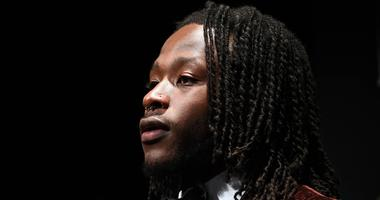 Feb 3, 2018; Minneapolis, MN, USA; Offensive Rookie of the Year winner Alvin Kamara of the New Orleans Saints during media availabilities during the NFL Honors show at Cyrus Northrop Memorial Auditorium at the University of Minnesota
