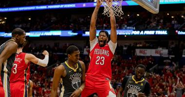 Pelicans one game shy of series tie after whipping Warriors