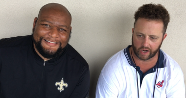 Kristian Garic Deuce McAllister WWL Radio Saints training camp