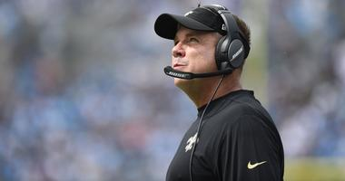 Sep 24, 2017; Charlotte, NC, USA; New Orleans Saints head coach Sean Payton on the sidelines in the second quarter at Bank of America Stadium.