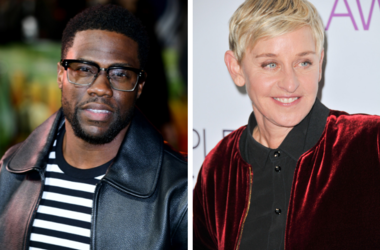 Kevin Hart who has been urged to reconsider his decision to pull out of hosting the Oscars amid controversy over homophobic tweets he posted almost a decade ago by Ellen DeGeneres / Ellen DeGeneres at the People's Choice Awards 2017 in Los Angeles.
