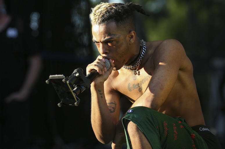 XXXTentacion performs during the Rolling Loud Festival in downtown Miami on May 6, 2017.
