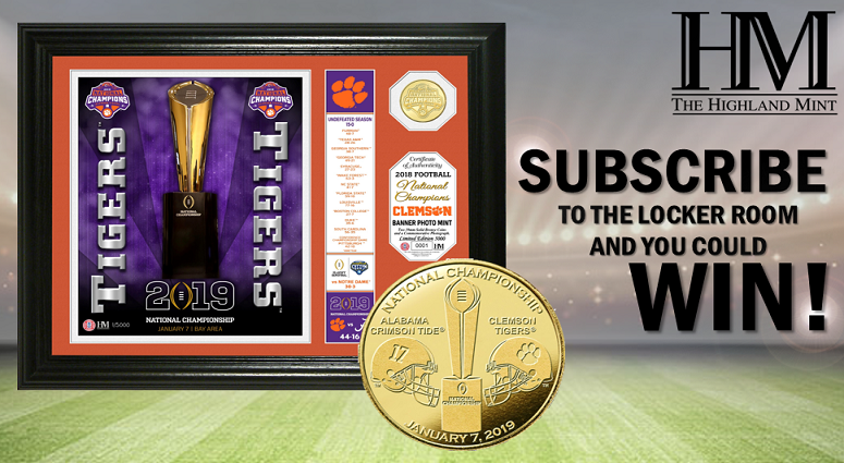 Subscribe To The Locker Room & Be Entered To Win A College Football Playoff Champions PhotoMint