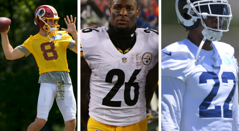 Washington Redskins Kirk Cousins, Pittsburgh Steelers Le'Veon Bell, Los Angeles Rams Trumaine Johnson