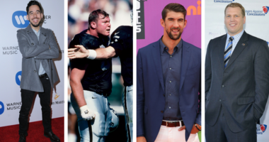 Mike Shinoda, Barret Robbins, Michael Phelps, Dr. Chris Nowinski