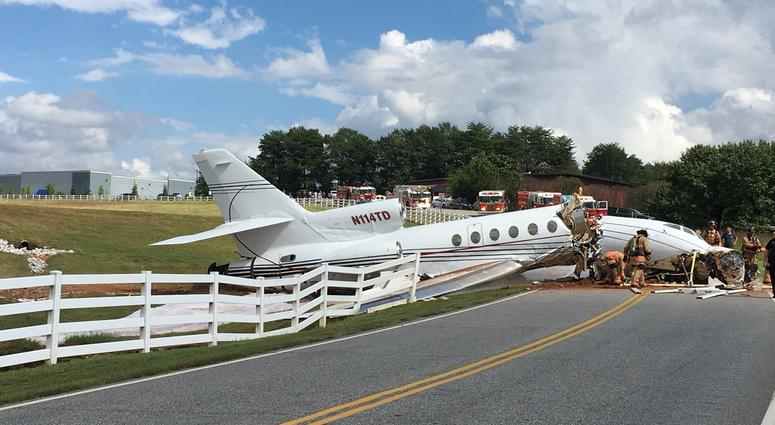 Plane crash and Greenville's downtown airport