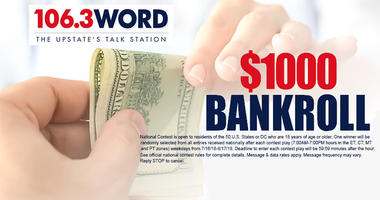 Your chance @ $1,000 12 times each weekday 7a-7p!