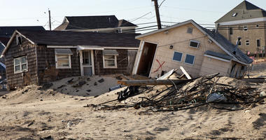 Damage in NJ from Hurricane Sandy