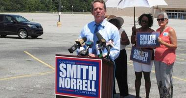James Smith on the campaign trail