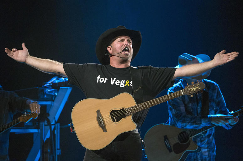 Garth Brooks performs at Banker's Life Fieldhouse
