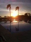 Pôr-do-sol do lago