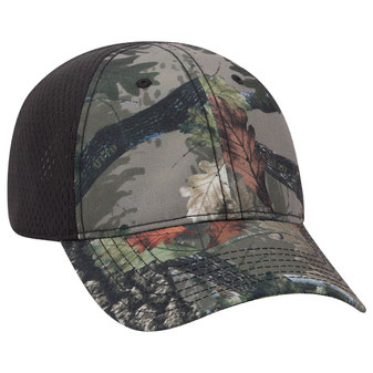 Polyester Canvas Low Profile Camo Cap with Pro Mesh Back
