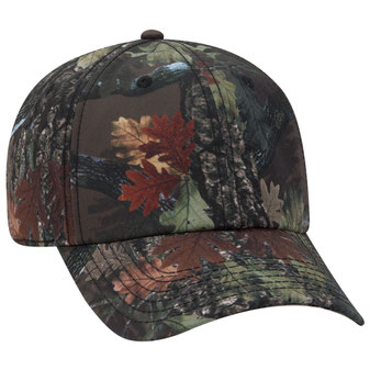 Six Panel Low Pro Camouflage Polyester Canvas Cap