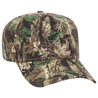 Camouflage Brushed Cotton Twill Pro Style Caps