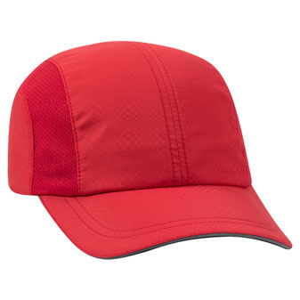 Textured Polyester Pongee Running Cap