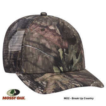 Mossy Oak Camouflage Superior Polyester Twill Six Panel Low Profile Mesh Back Cap (MO4 - Shadow Grass Blades)