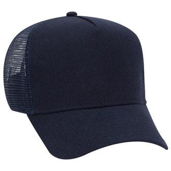 Jersey Knit Five Panel Pro Style Mesh Back Caps