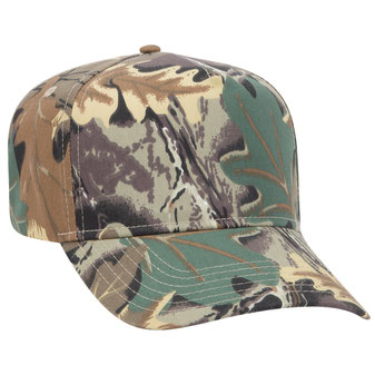Camouflage Cotton Twill Low Crown Golf Style Caps