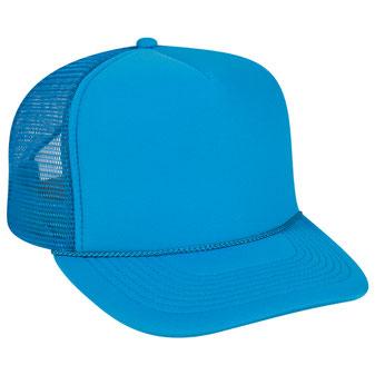 Neon Polyester Foam Golf Style Mesh Back Cap