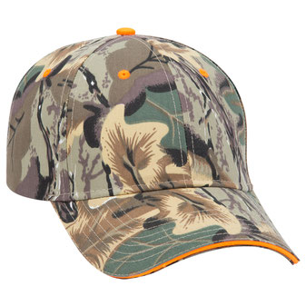 Camouflage Cotton Twill Sandwich Visor Low Profile Pro Style Caps