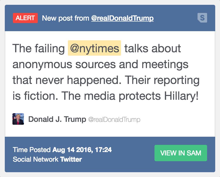Trump NY Times Tweet