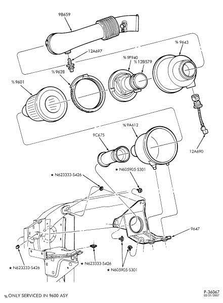 Oem New Ford Motorcraft Air Intake Temperature Sensor F5az12a697a