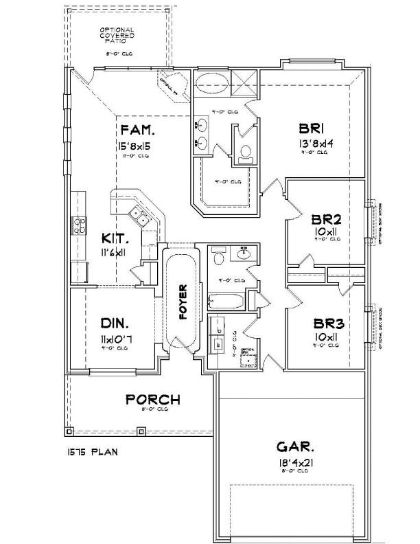 Plan 1573 saratoga homes houston for Houston home builders floor plans