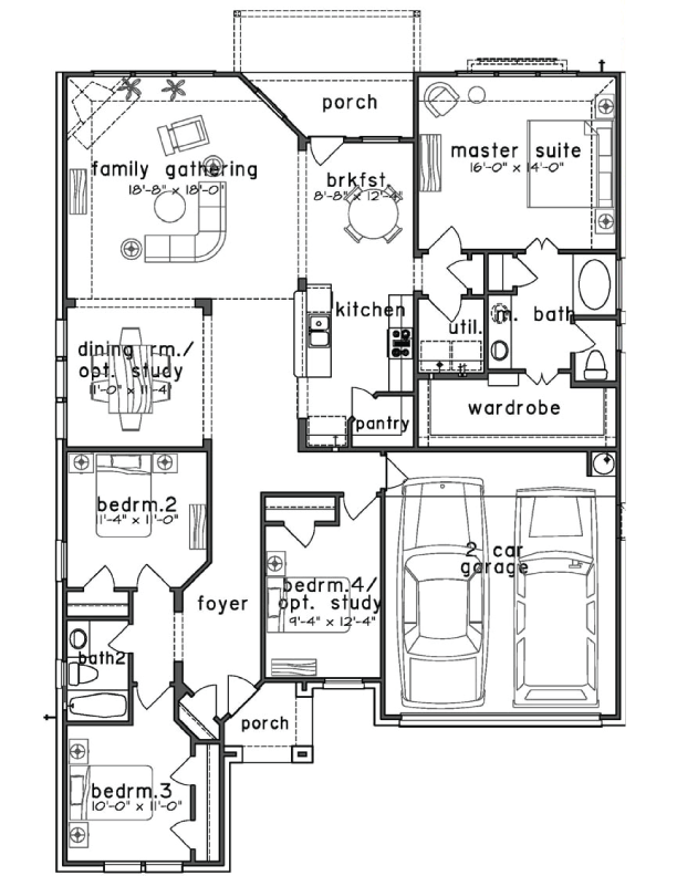 Plan 2070 saratoga homes houston for House plans houston