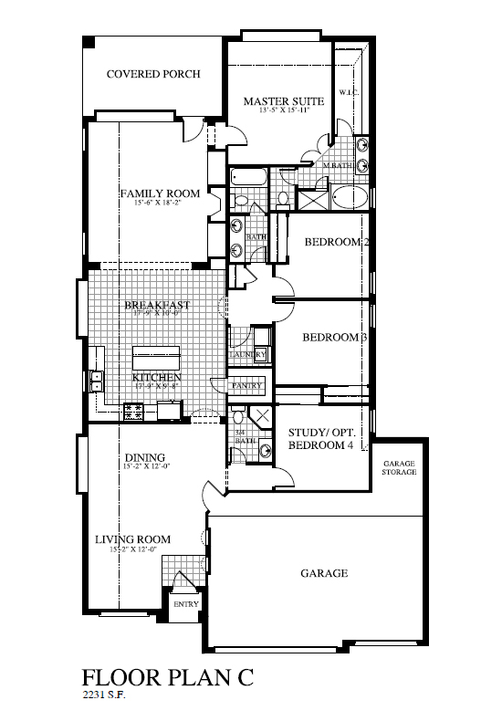 Plan 2231 saratoga homes houston for Houston home builders floor plans