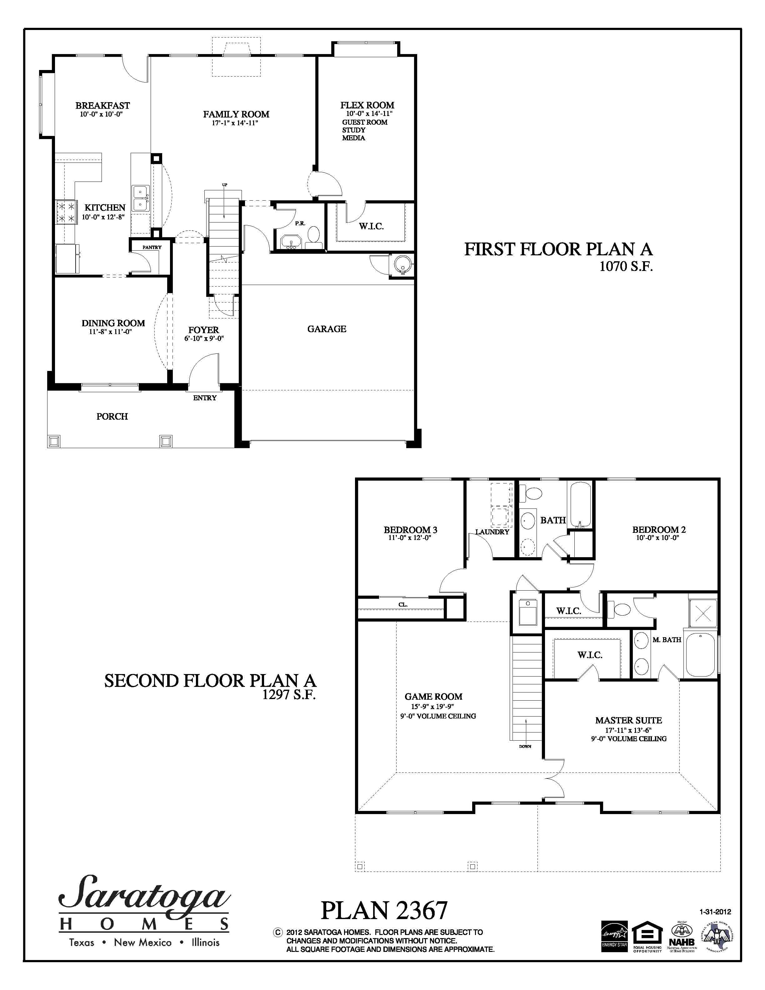 Plan 2367 saratoga homes houston for Floor plans for homes in texas