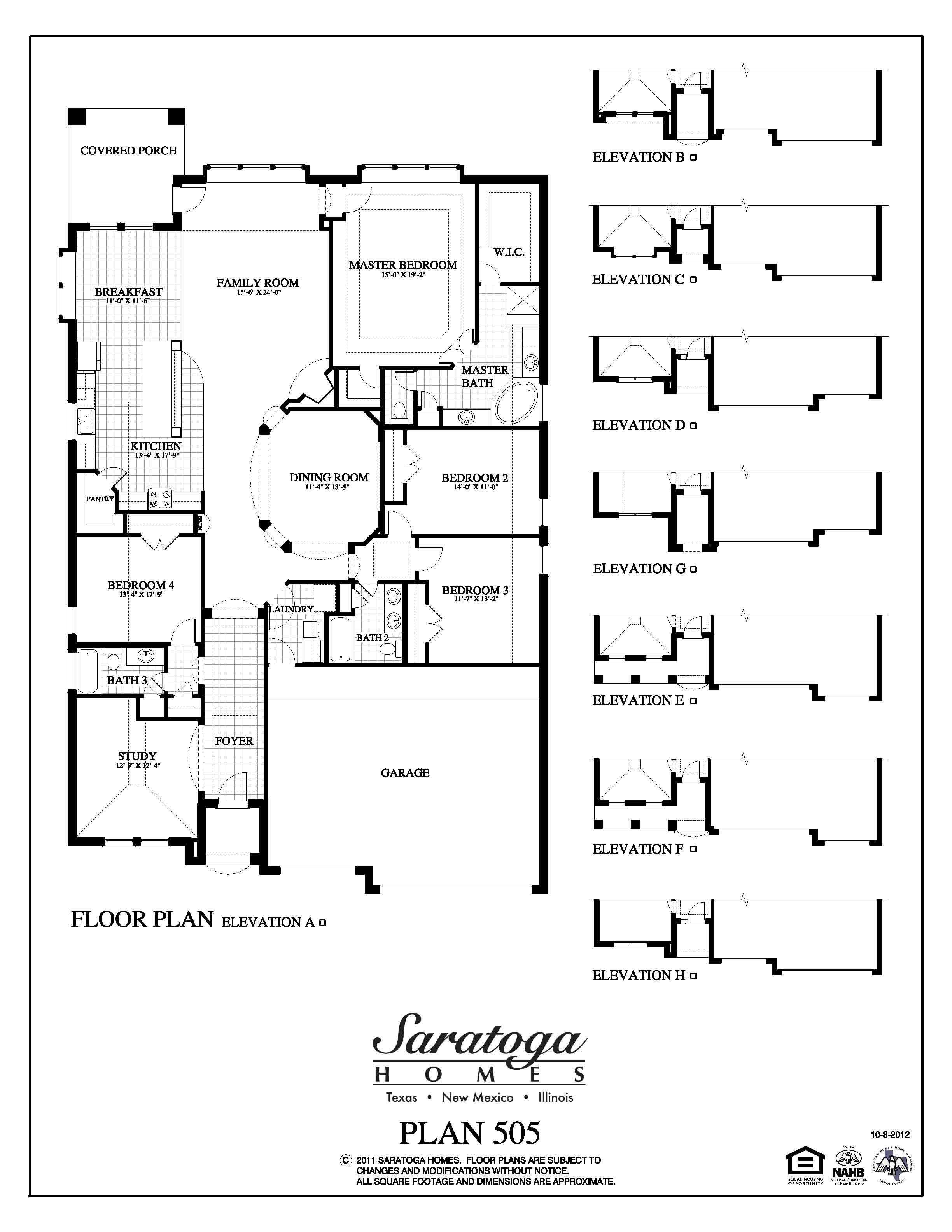 Plan 2871 saratoga homes houston for Saratoga homes floor plans