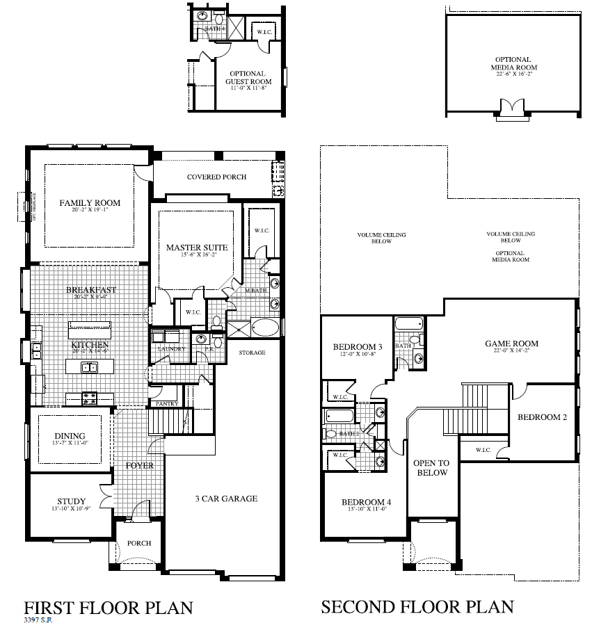 Plan 3419 saratoga homes houston for Houston home builders floor plans