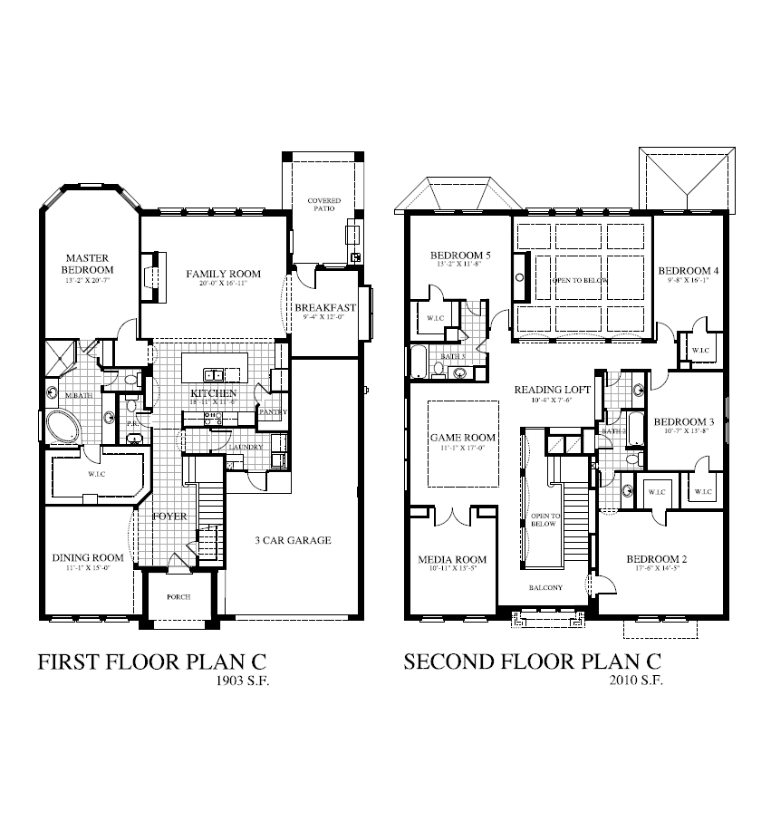 Plan 3910 saratoga homes houston for Home builders floor plans
