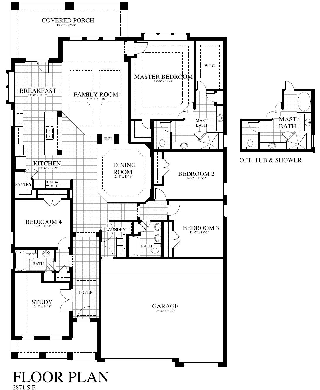 Plan 505 c saratoga homes killeen for Saratoga homes floor plans