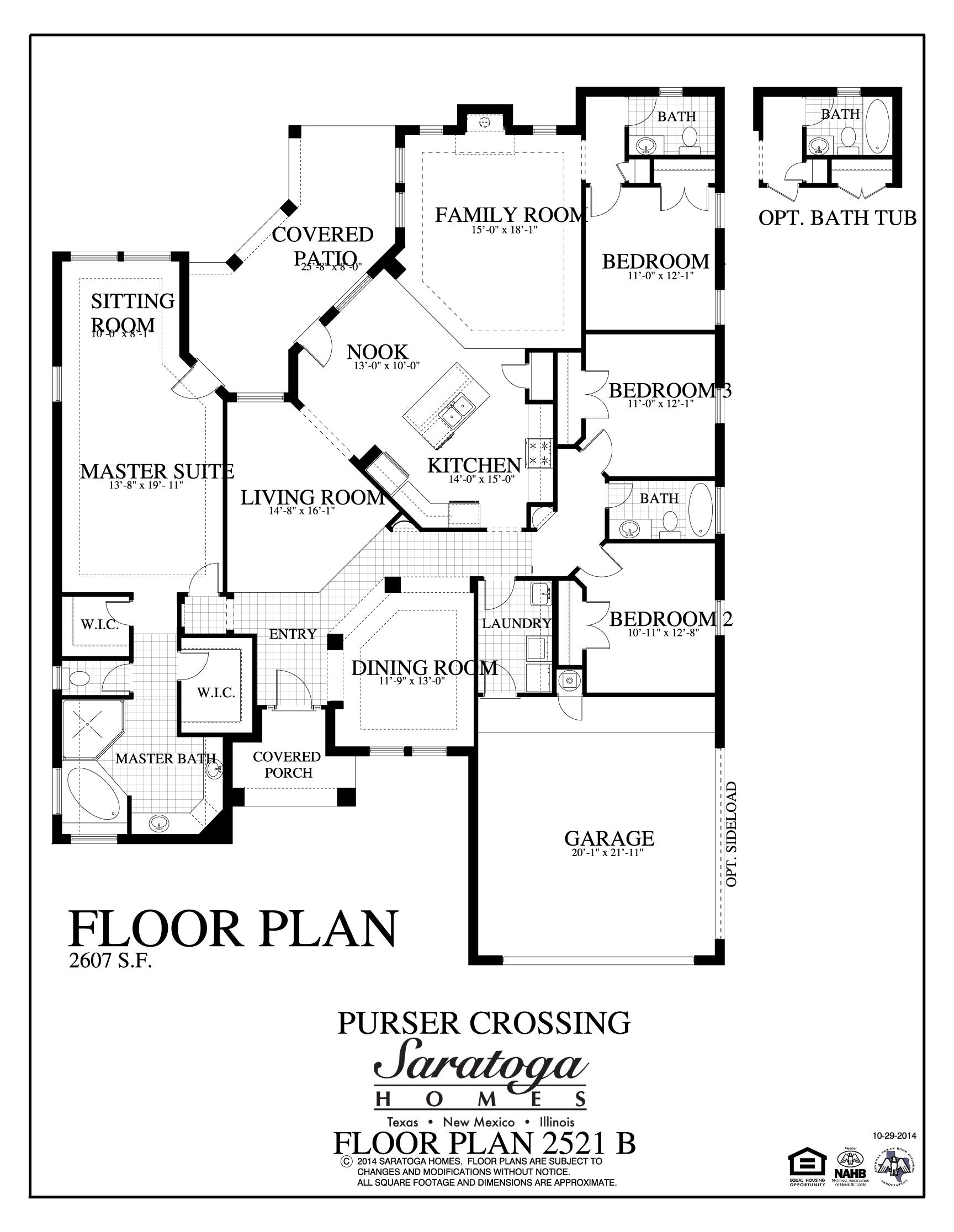 Plan 2521 b saratoga homes killeen for Saratoga homes floor plans
