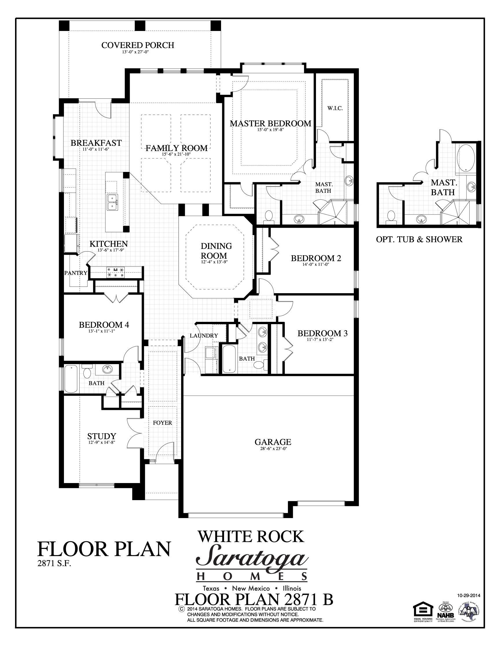 Plan 2871 b saratoga homes killeen for Saratoga homes floor plans