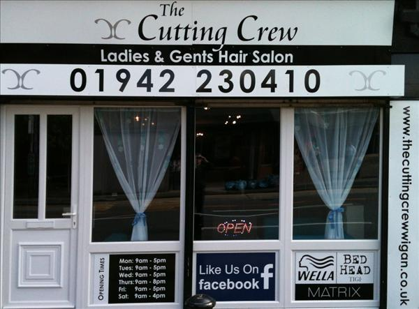 select all photos on iphone book now at the cutting crew hair salon wigan for 17996