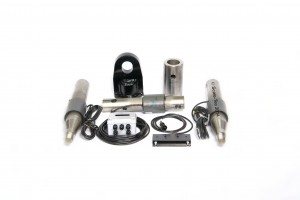 Pictured with pintle hitch.  Kit 7200328-1 will have a clevis hitch instead of a pintle hitch.