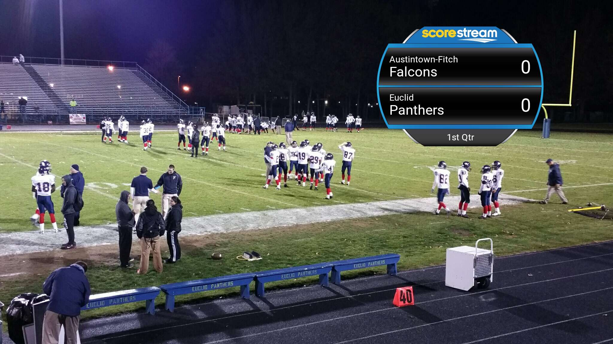 What Are The Panthers Score >> The Euclid Panthers defeat the Austintown Fitch Falcons 28 to 7 - ScoreStream