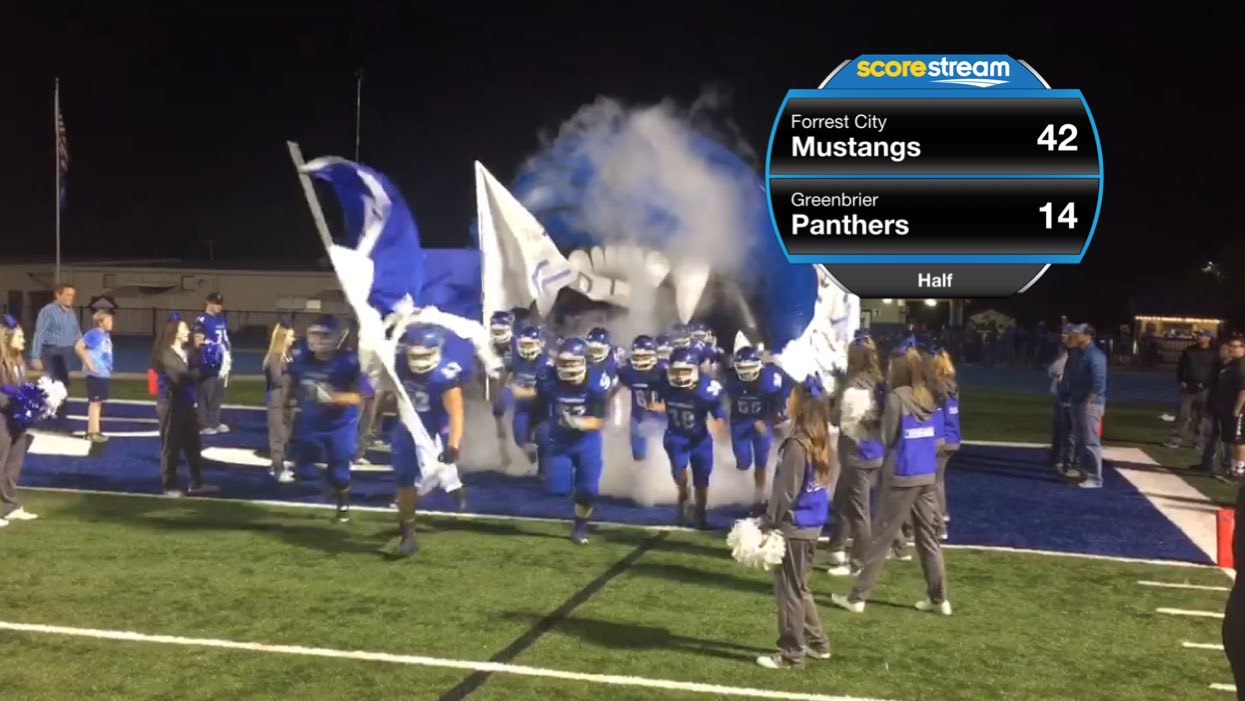 The Forrest City Mustangs vs  the Greenbrier Panthers