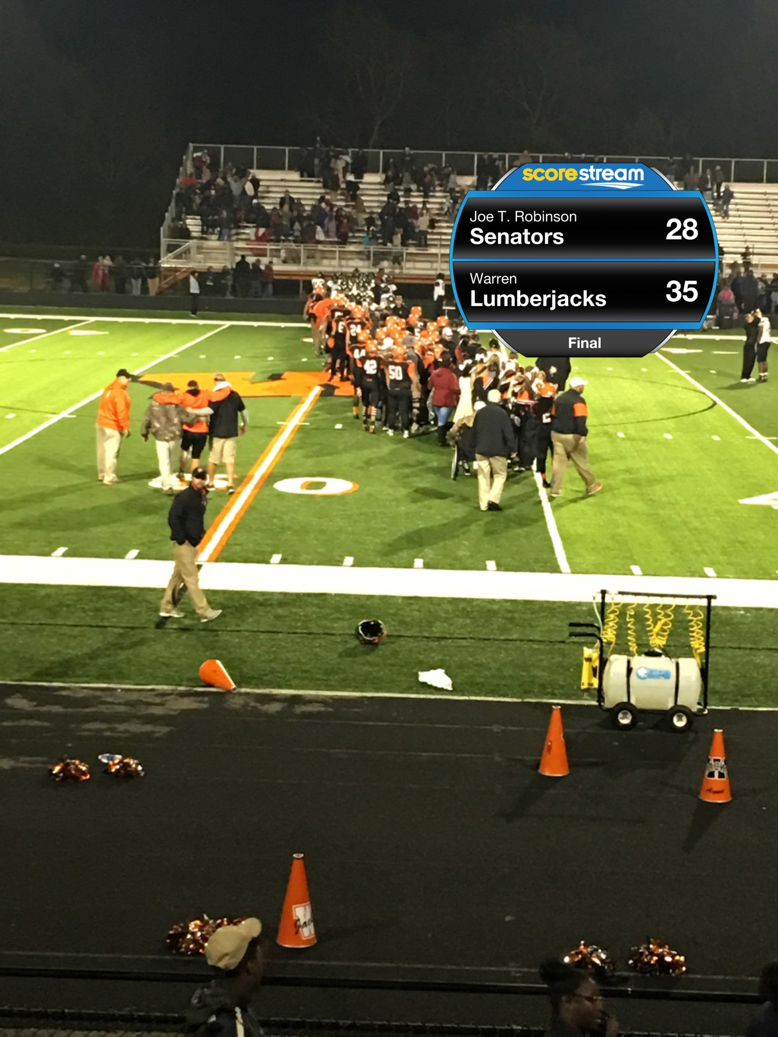 Lumberjacks To Play For State Le Crown Warren 27 20 Valley View Full Report