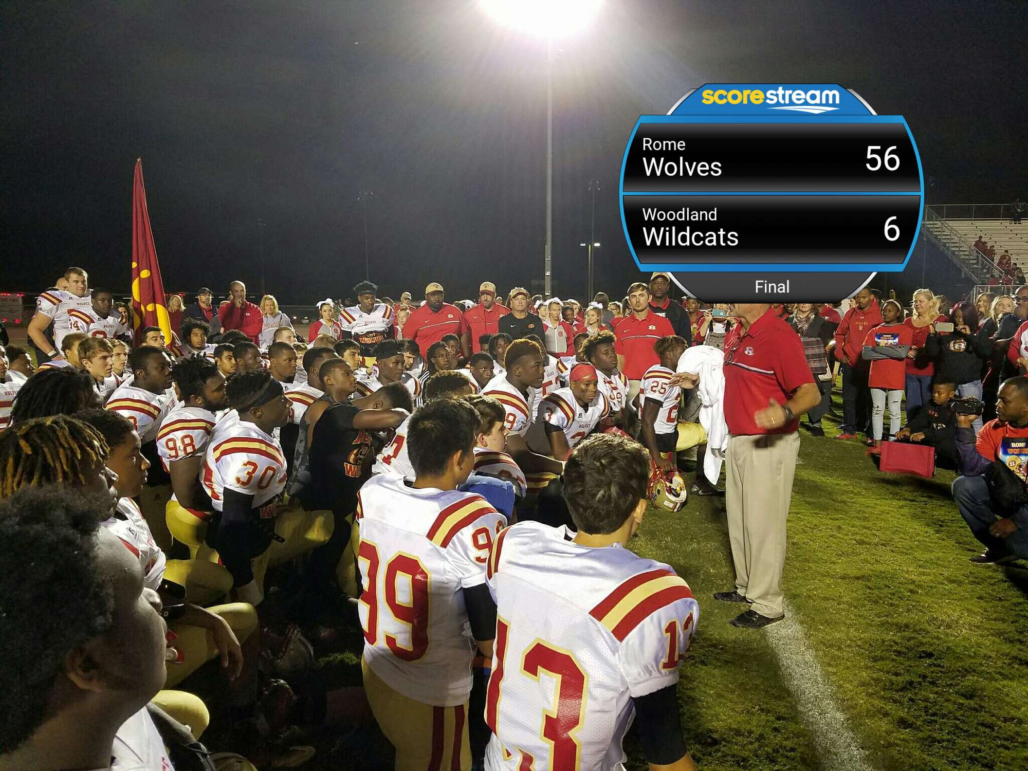 The Rome Wolves Vs The Woodland Wildcats Scorestream