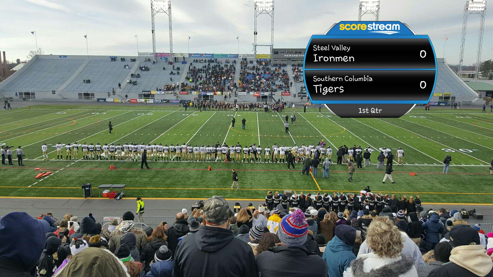 The Steel Valley Ironmen Vs The Southern Columbia Tigers Scorestream