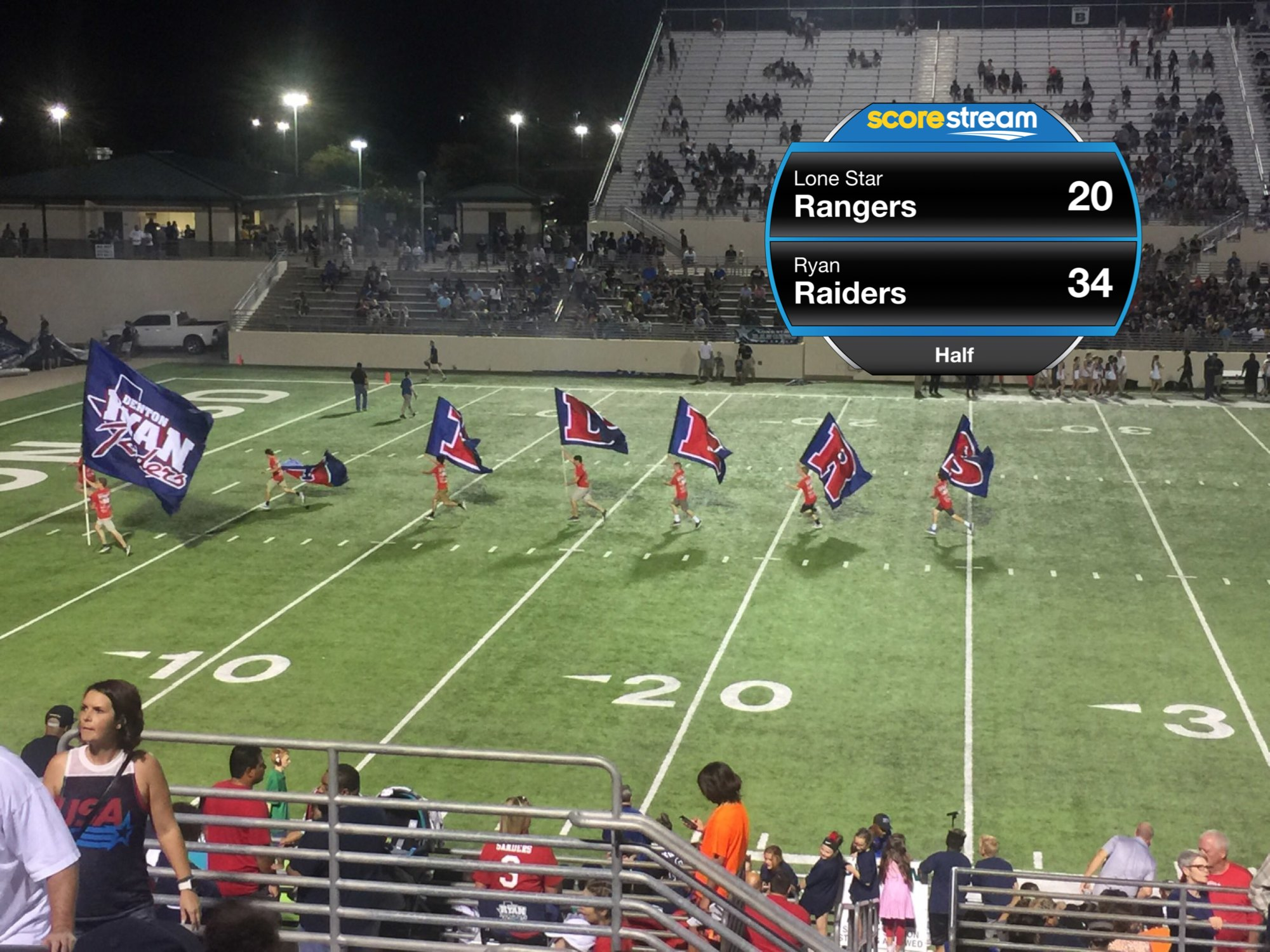 The Lone Star Rangers Vs The Ryan Raiders Scorestream