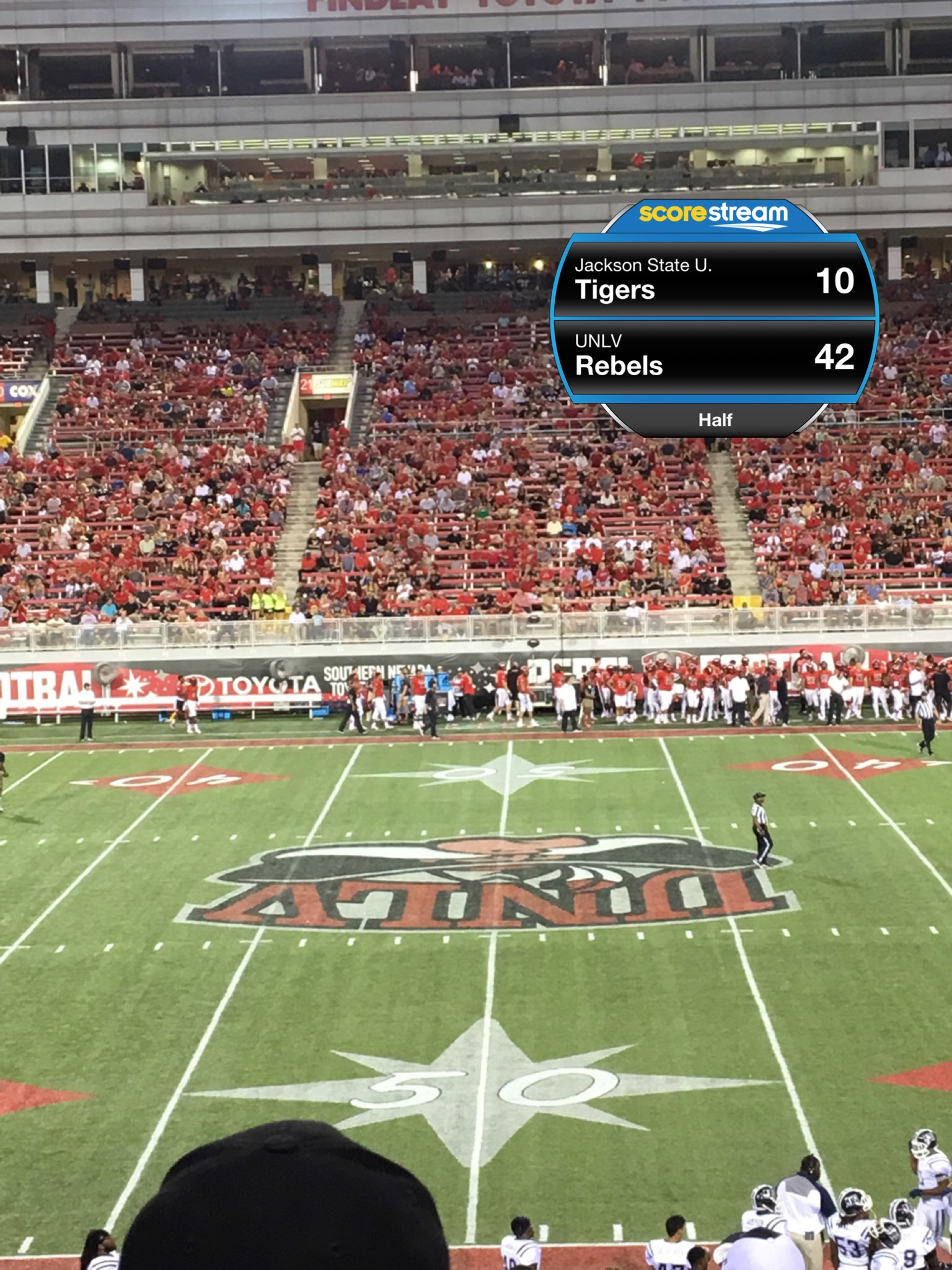 The Unlv Rebels Defeat The Jackson State Tigers 63 To 13 Scorestream