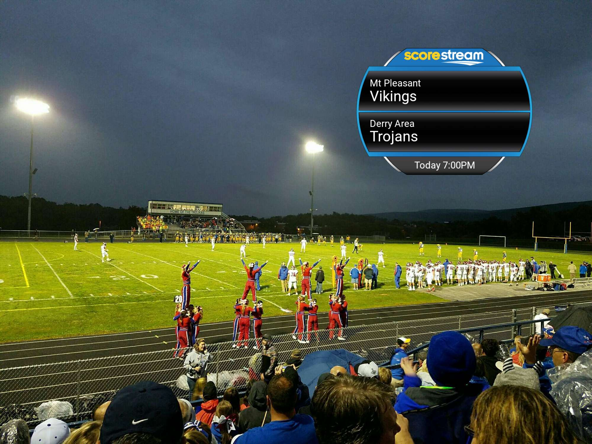 The Mt Pleasant Vikings Vs The Derry Area Trojans Scorestream