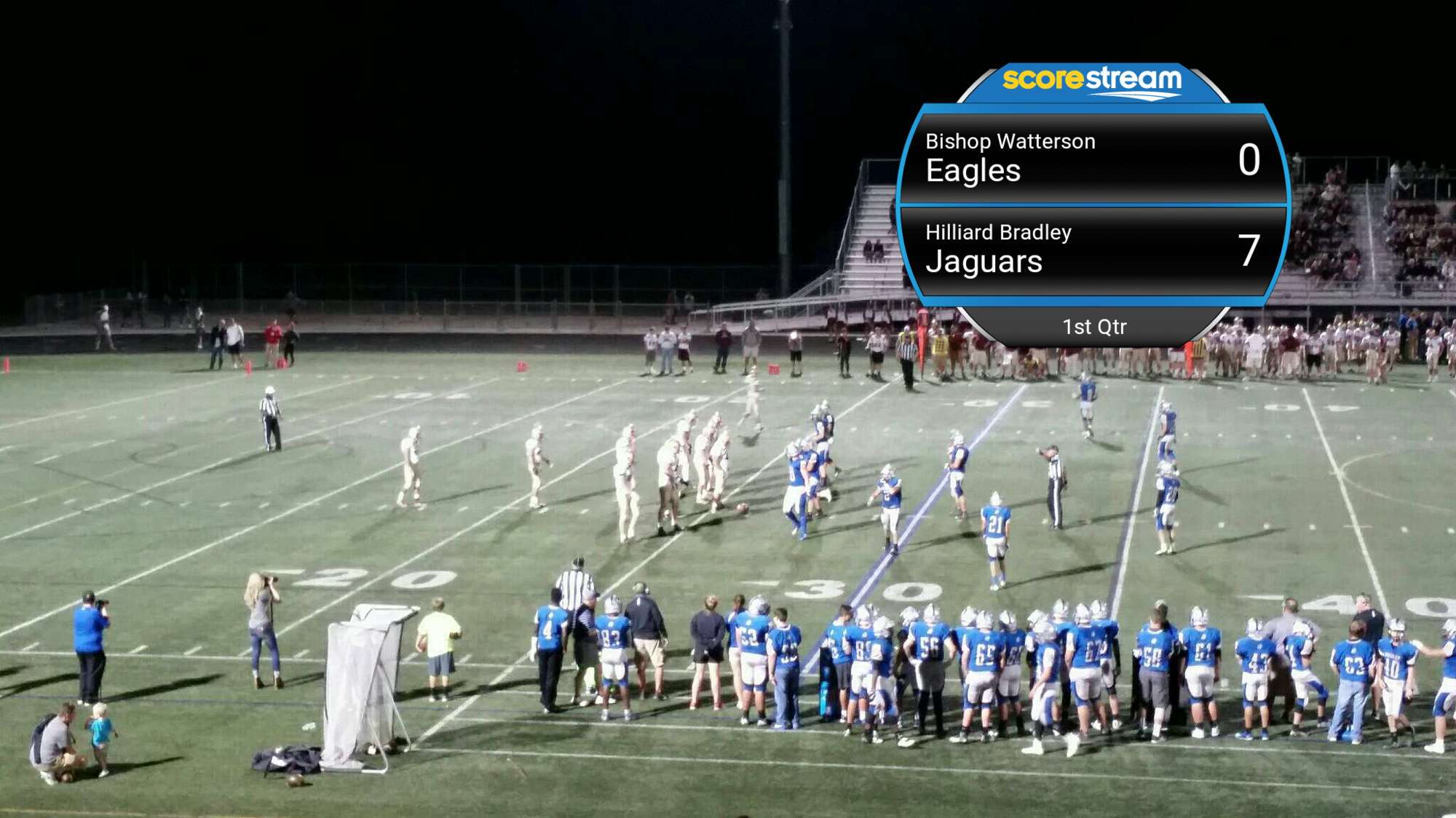The Hilliard Bradley Jaguars Defeat The Bishop Watterson Eagles 23