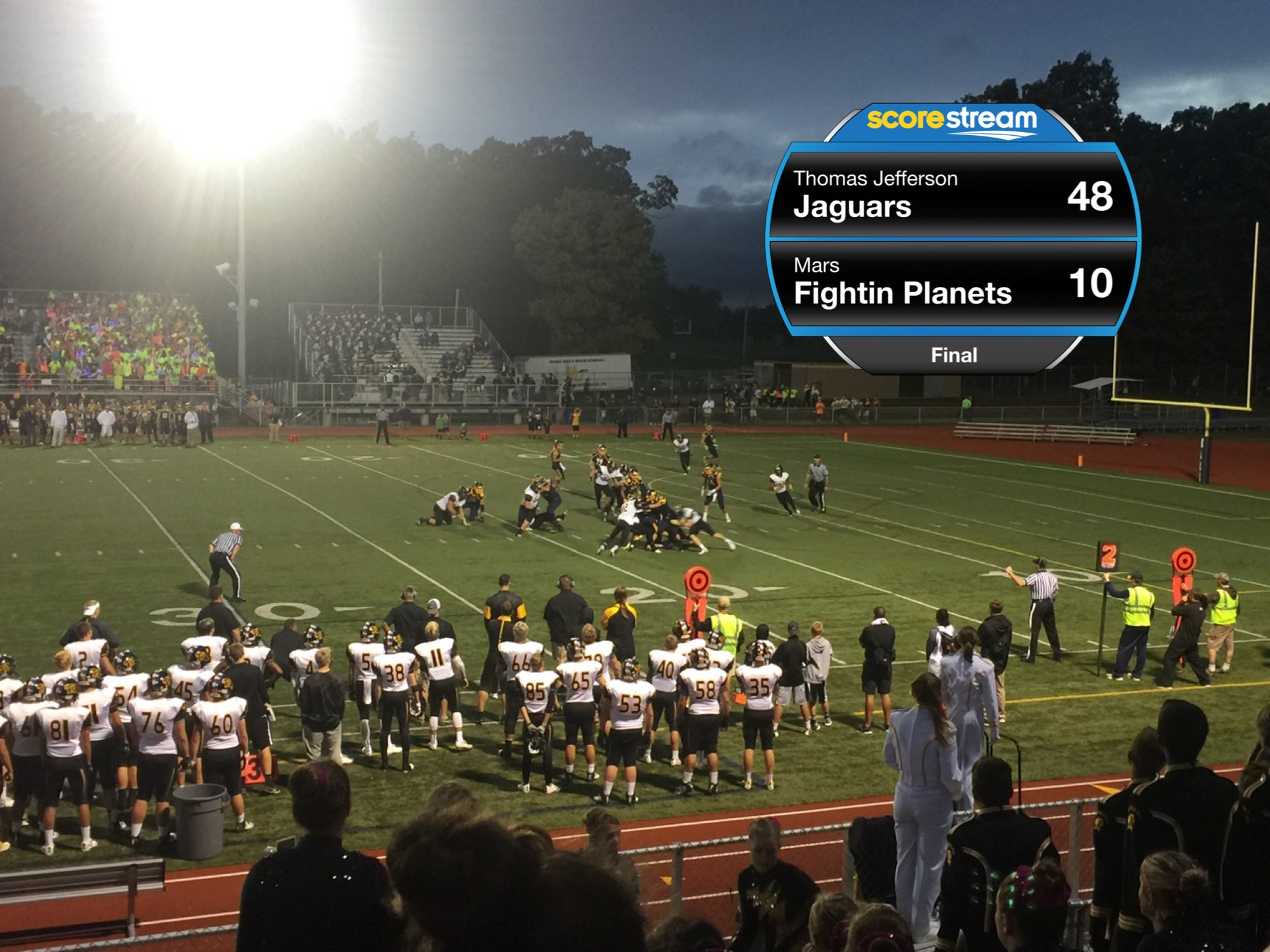 The Thomas Jefferson Jaguars Defeat The Mars Fighting Planets 48 To