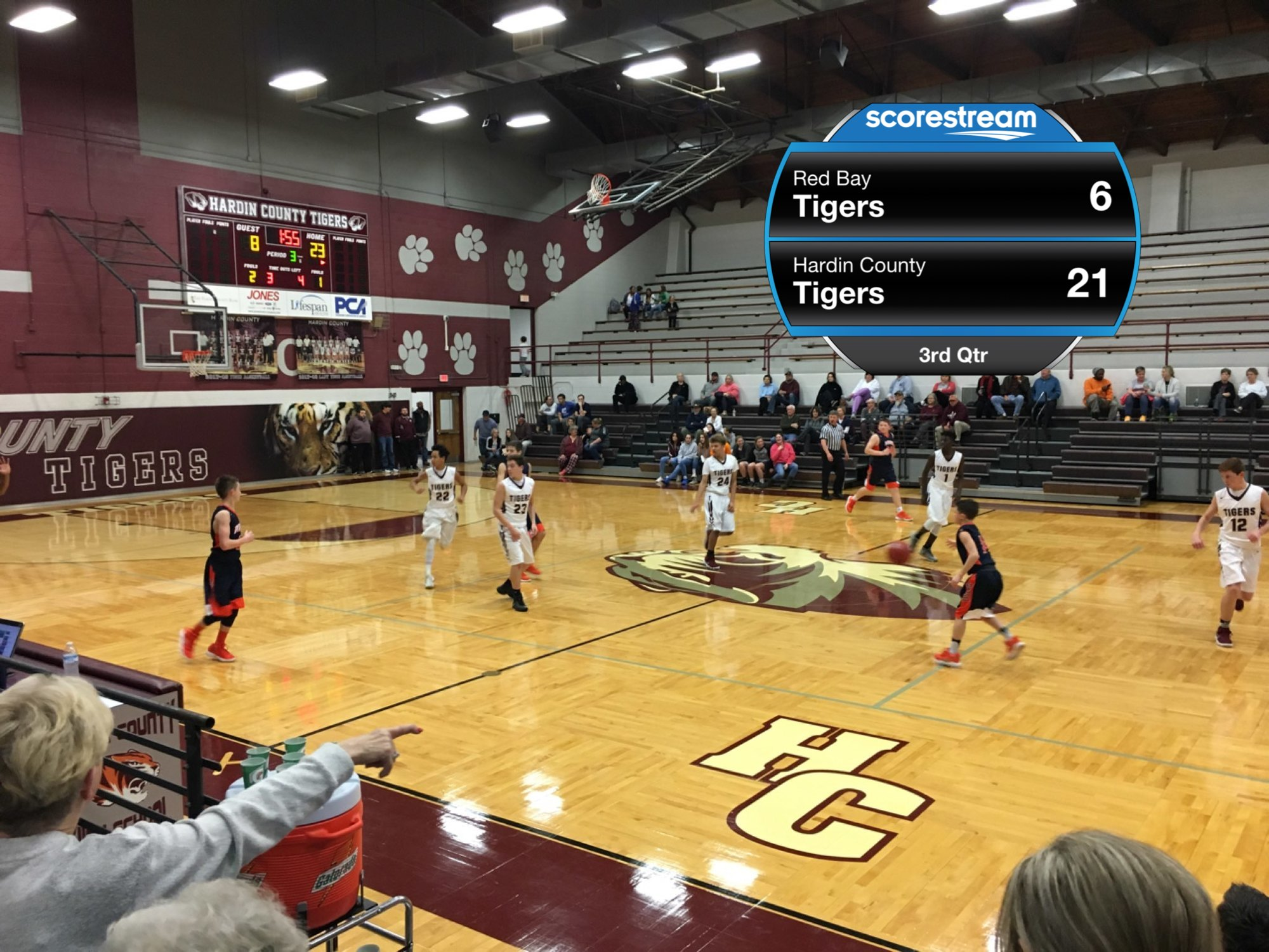 The Red Bay Tigers vs  the Hardin County Tigers - ScoreStream
